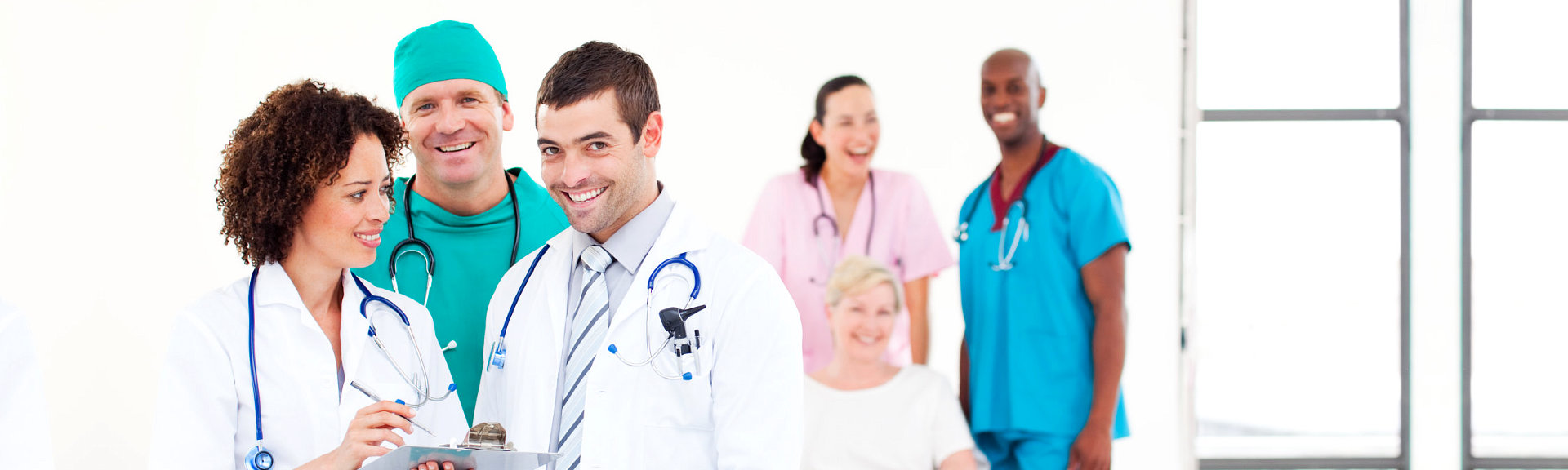 Smiling medical staff